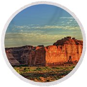 Desert Sunrise In Color Round Beach Towel