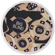 Diamond Odds Round Beach Towel