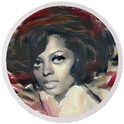 Diana Ross Round Beach Towel