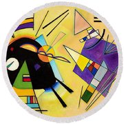 Digital Remastered Edition - Black And Purple Round Beach Towel