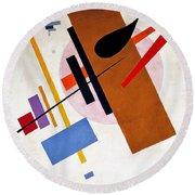 Digital Remastered Edition - Suprematism, No55 Round Beach Towel