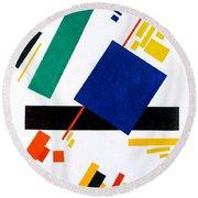 Digital Remastered Edition - Suprematist Composition Round Beach Towel