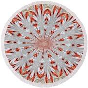 Digitalized Cardinal Round Beach Towel