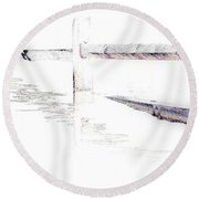 Disappearing Fence Round Beach Towel