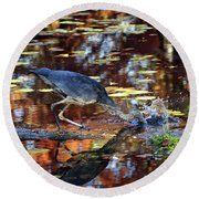Dive And Dine I Round Beach Towel