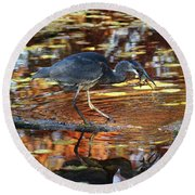 Dive And Dine II Round Beach Towel
