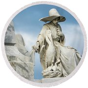 Do Not Forget Me Round Beach Towel