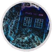 Doctor Who Tardis 3 Round Beach Towel