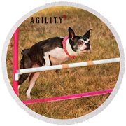 Doggie Agility  Round Beach Towel