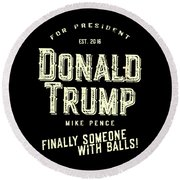 Donald Trump Mike Pence 2016 Vintage Round Beach Towel