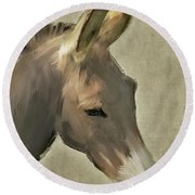 Donkey Round Beach Towel
