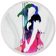 Donna Watercolor Round Beach Towel