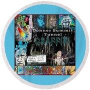 Donner Summit Graffiti Round Beach Towel