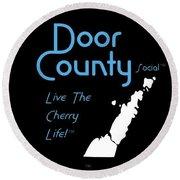 Door County Icon Round Beach Towel