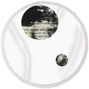 Double Circle Page 1 Abstract Round Beach Towel