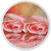 Double Reflection Round Beach Towel