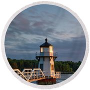 Doubling Point Light Round Beach Towel
