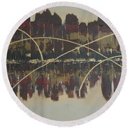 Downtown Abbey Round Beach Towel