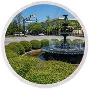 Downtown Aiken Sc Fountain Round Beach Towel