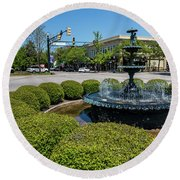 Downtown Aiken Sc Fountain Round Beach Towel