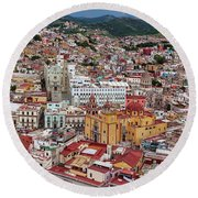 Round Beach Towel featuring the photograph Downtown Guanajuato, Mexico by Tatiana Travelways