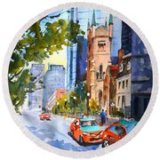 Downtown Toronto Round Beach Towel