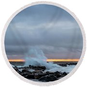 Dramatic Beginnings. Round Beach Towel