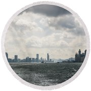 Dramatic Hong Kong Round Beach Towel