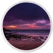 Dramatic Sky At Porthmeor Round Beach Towel