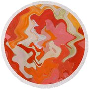 Dream On - Original Abstract Art  Round Beach Towel