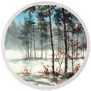 Dreaming Forest Round Beach Towel