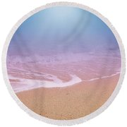 Dreamland Beach And Seashore In The Morning 2 Round Beach Towel
