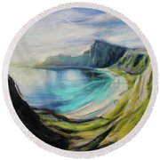 Dreams In Hidden Places Round Beach Towel