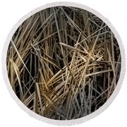 Dried Wild Grass IIi Round Beach Towel