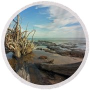 Drift Wood Beach Round Beach Towel