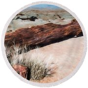 Round Beach Towel featuring the photograph D R T In Arizona by Jon Burch Photography