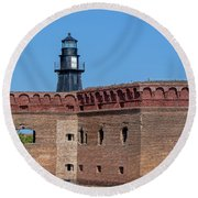 Round Beach Towel featuring the photograph Dry Tortugas National Park, Fort Jefferson by Kay Brewer