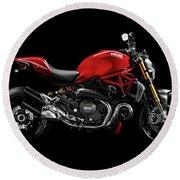 Ducati Monster 696 Round Beach Towel