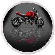 Ducati Monster 696 Spotlight Round Beach Towel