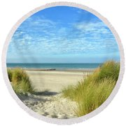 Dunes-day In October Round Beach Towel
