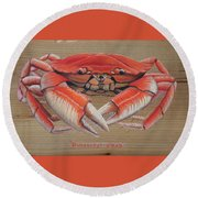 Dungeness Crab Round Beach Towel