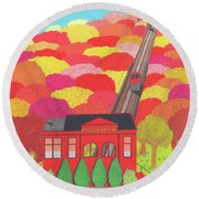 Duquesne Incline Round Beach Towel