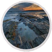 Dusk At Kettle Cove Round Beach Towel