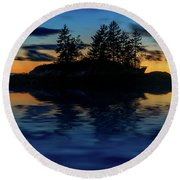 Round Beach Towel featuring the photograph Dusk At Lookout Point by Rick Berk