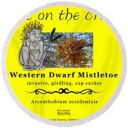 Dwarf Mistletoe Round Beach Towel
