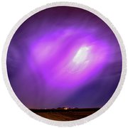 Dying Late Night Supercell 016 Round Beach Towel