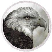 Eagle Protrait Round Beach Towel