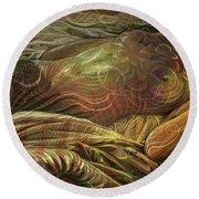 Earth Evening Round Beach Towel