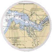 East Bay Extension Noaa Chart 11385_5 Round Beach Towel