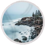 East Coast Winters Round Beach Towel